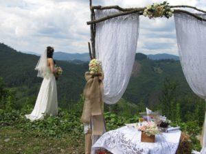 Организация свадьбы, корпоратива на высшем уровне в Карпатах от турфирмы СионТур